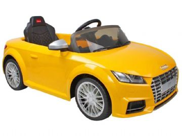 Ride on Car 12v Electric Audi TTS Official Licensed Model in Yellow with Parental Control